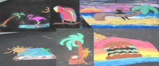 Chalk Art at the Start