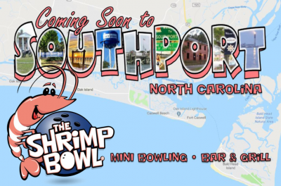 The Shrimp Bowl Mini Bowling Bar and Grill COMING SOON